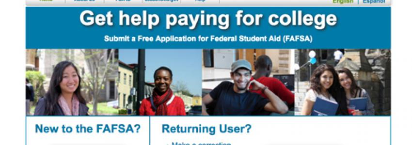 Federal Student Aid, FAFSA homepage